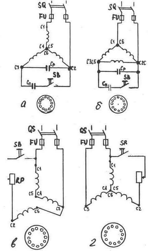 схема подключения 3 фазного двигателя однофазную сеть инструкции.