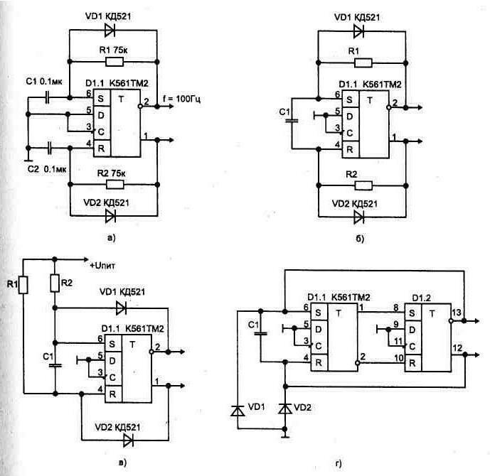 в) с резисторами соединенными