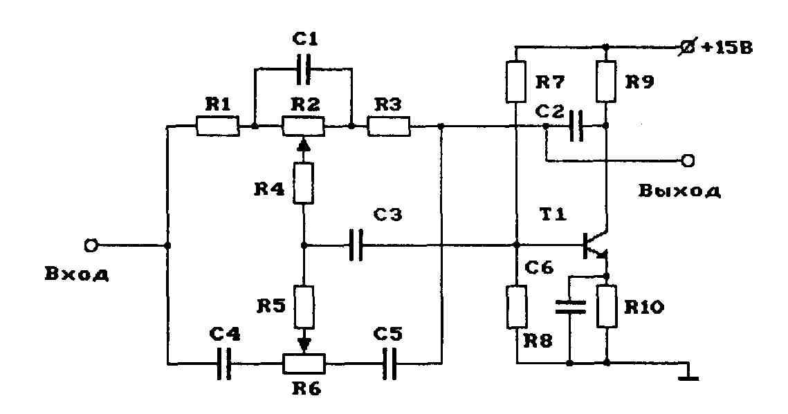 Рассматриваем схему регулятора громкости, баланса и тембра на отечественной микросхеме К174ХА54...
