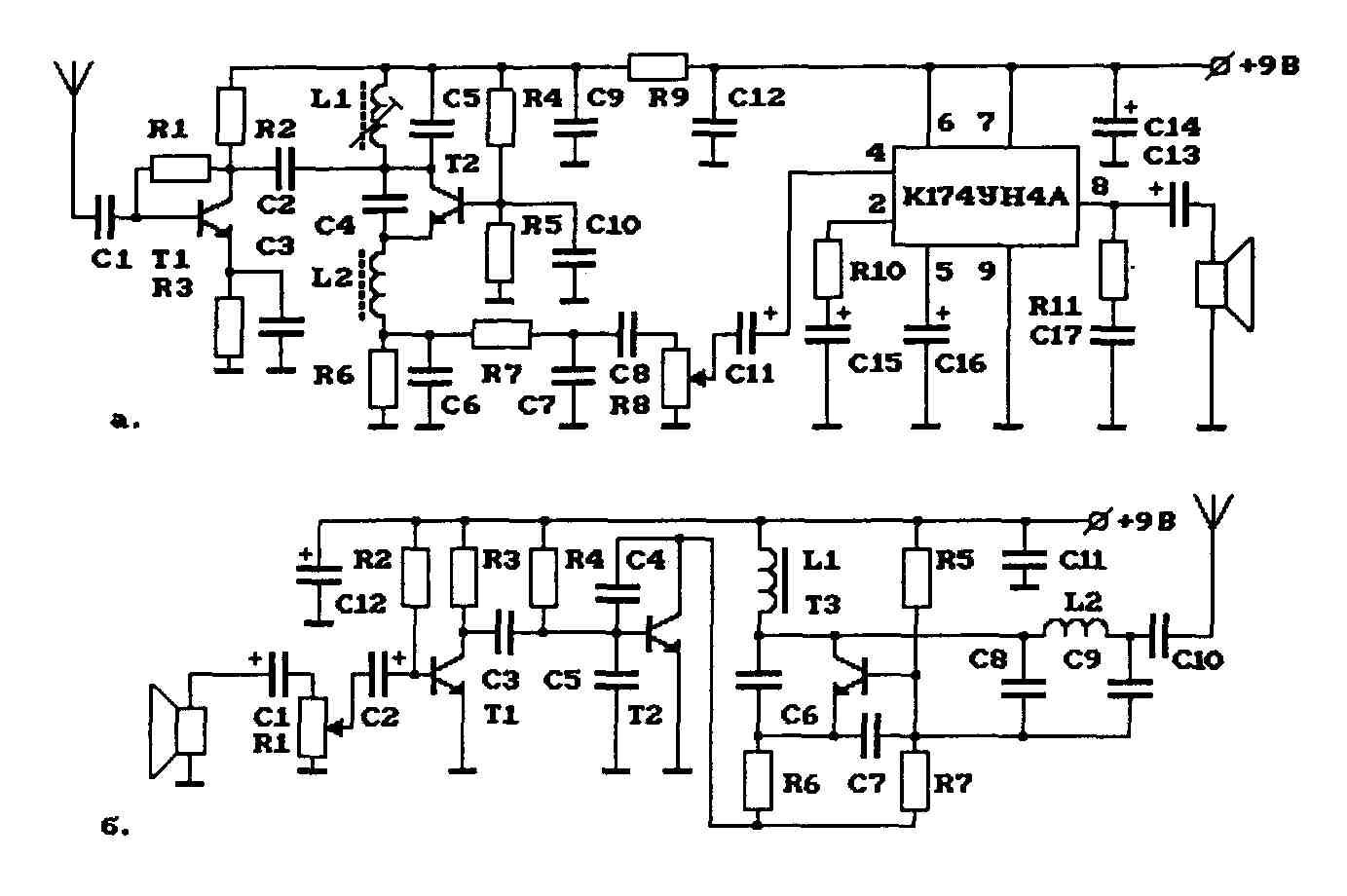 Элементы для схемы АМ-передатчика на рис.6.3. На рис.6.3 представлен пример АМ-радиостанции на 27 МГц...