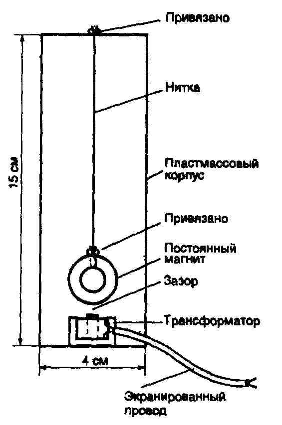 Начните с переделки миниатюрного согласующего трансформатора, используемого в датчике.  Для этого разберите полностью...